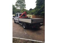 53 2003 IVECO FORD DAILY CREW CAB WITH HIAB Twin wheeler Drop sides (53,000 miles!) (ONE OWNER)