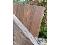 Brown oak effect worktop