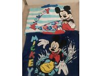 2 x Mickey Mouse poncho towels