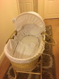 Moses basket used for a few weeks only