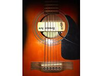 Fender Acoustic Guitar + Case + Acoustic Pickup