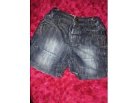 Girls jeans shorts 6-9 months