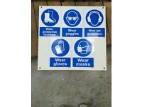 Building, working safety signs (4)