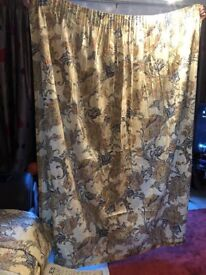 Curtains - two pairs, beautifully made, for twin windows