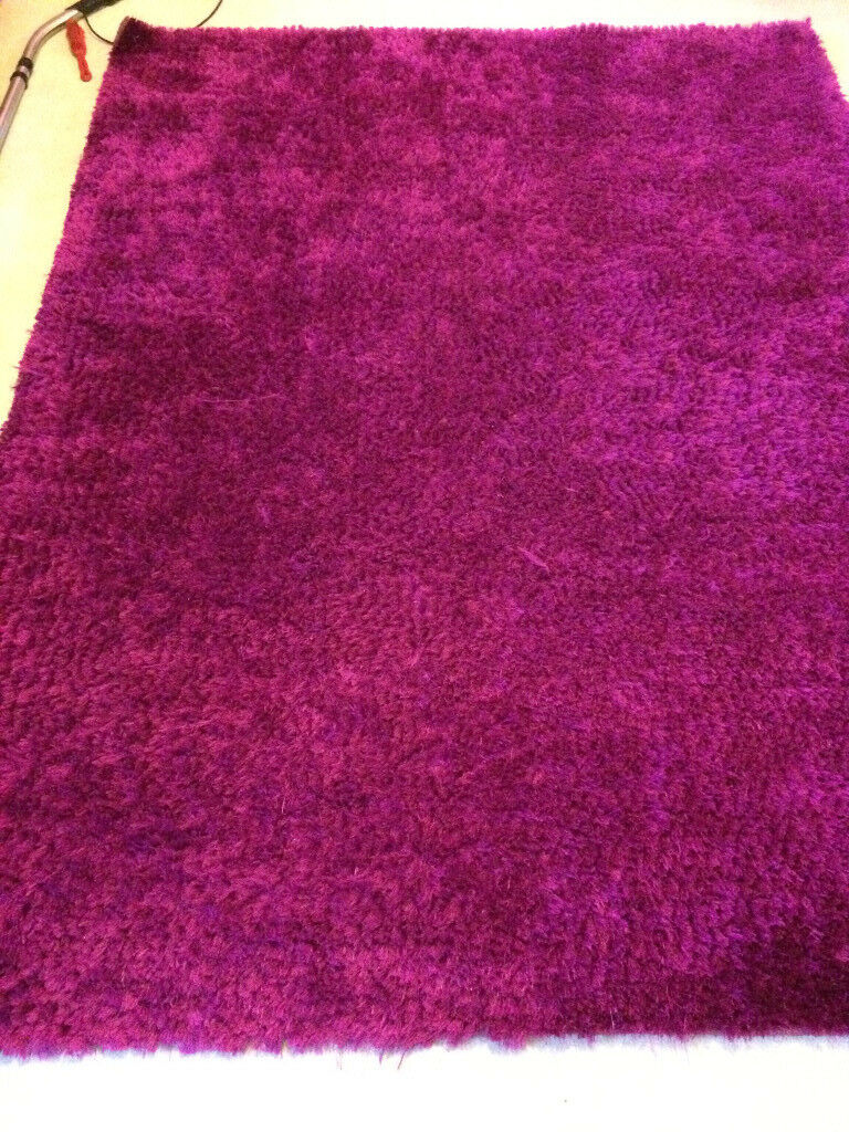 Fuschia Pink Rug Large 233cm X 178 Cm Good Condition