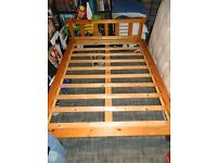ORIENTAL STYLE WOODEN DOUBLE BED BASE