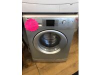 BEKO 8KG DIGITAL SCREEN WASHING MACHINE IN SILIVER