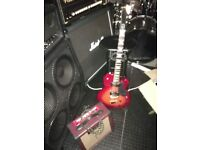 Dearmond m65c guitar with practice amp and korg pedal