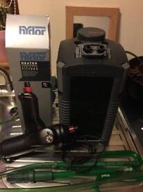 Eheim 250l external filter with 200watt external heater