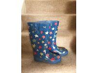 Cath Kidston Star Wellies size 6