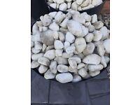 White pebbles for garden..