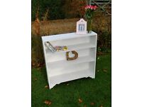 Shabby chic solid wood bookcase