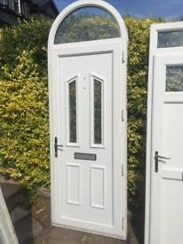 Almost new UPVC door. Keep the arch or cut it off