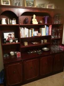 Mahogany display cabinet- Stag