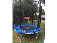 Plum 6 foot trampoline with new enclosure net.