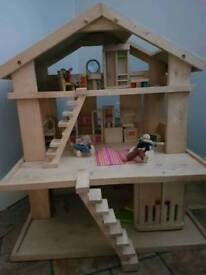 Upstyle Project Large wooden dolls house