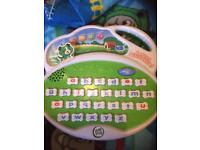 Leap frog electronic letter learning