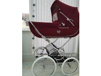 Vintage Silvercross continental style carrage pram. baby ready or reborn baby