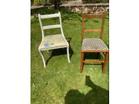 FREE to collector: 2 solid wood chairs