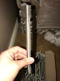 Box of silver door handles s