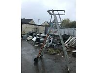 Podium scaffold ladders 7 foot 5 in hight feel safe at hight health and safety