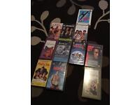 Vhs Video Tapes action comedy educational and DVDs from news paper and kids Disney