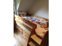 stompa cabin bed and wardrobe