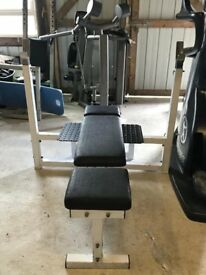 Powersport Commercial Grade Olympic Bench Press - Adjustable Gym