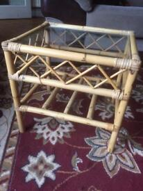 Small bamboo conservatory table