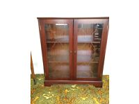 Mahogany Lead Glass Cabinet