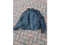 Hein Gericke leather motor cycle jacket, size XXXL,