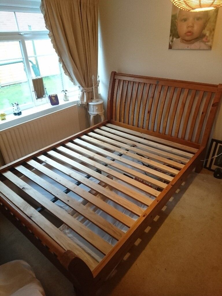 dark boxspring wood bed youtube alone watch frame additional cottage mattress sleigh