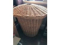Attractive wicker laundry basket for sale