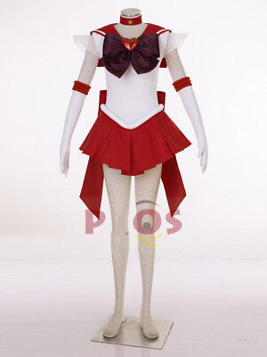 new  Best Sailor Moon Super S Mars Rei Hino Raye Cosplay Costume