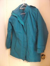 Women's Water Resistant Long Style Jacket Size 12 Westport
