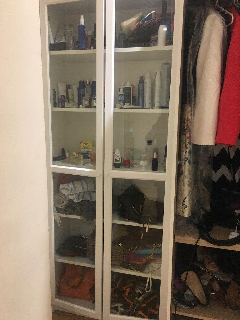 Ikea Billy Bookcase With Glass Doors In White In Kings Cross London Gumtree