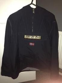 Napapijiri 1/4 jacket Navy , Small mens