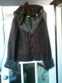 Size Large (14) brown hooded coat