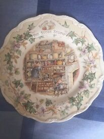 Royal Doulton - Collectable Brambly Hedge Plate - The Store Stump