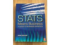 Stats means business- a guide to business statistics
