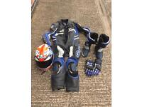 £750 full bike leathers helmet boots and gloves