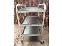 Vintage classic medical tools or tea trolley