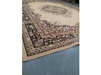 Large rug 128 inches x 94 inches nearly 11 ft x 8ft. Very heavy . Fantastic condition as new
