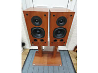 Pair of Castle York speakers With original solid wood Stands Great sounding Speakers