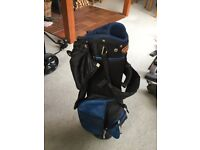 Junior golf clubs, bag and trolley