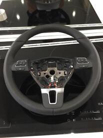 vw touran leather muiltfunction steerling wheel