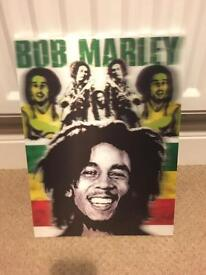 Wooden 3D Bob Marley Picture...