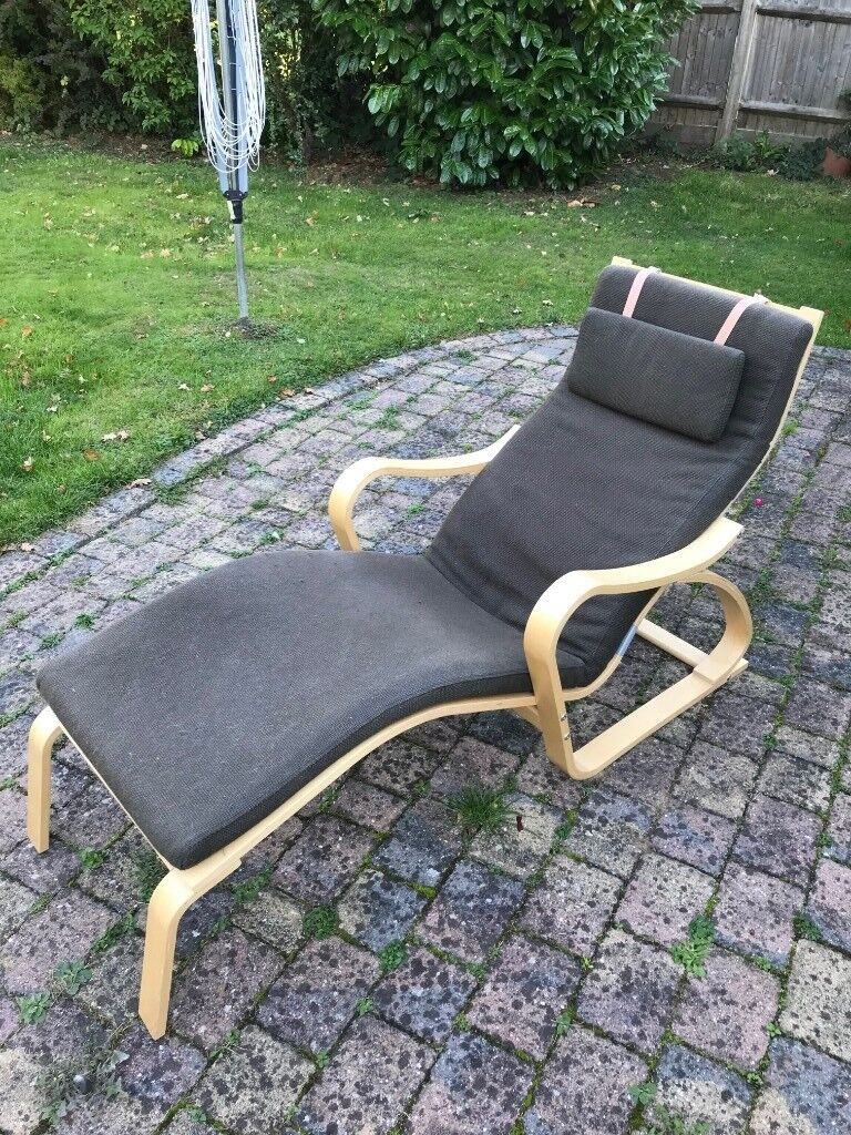 Chaise longue lounger ikea poang 2 chairs for sale either individually or together redhill