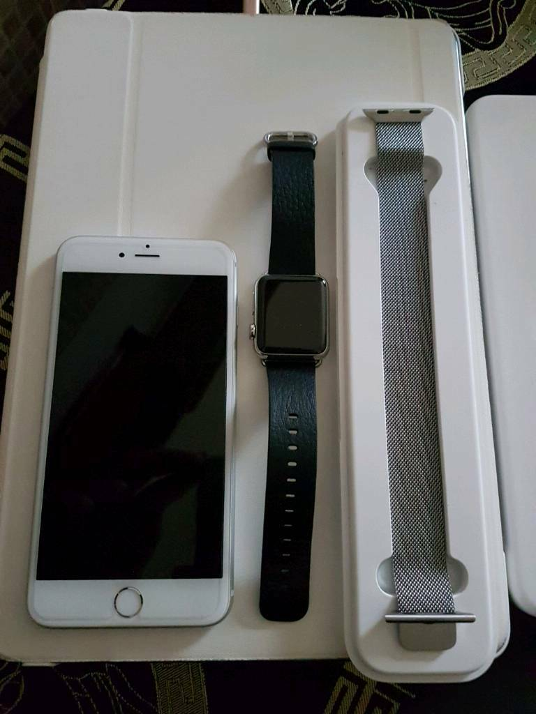 iPhone 6s Plus Silver 16GB Condition like NewApple Watchin Hyson Green, NottinghamshireGumtree - Apple iPhone 6s Plus Condition like New !! The phone always had case and screen protector on Comes With Fully Box And Brand New Charger And HeadphonesWorking On EE Virgin Orange Apple Watch 38MM Case 316L Stainless Steel in like Brand New Condition I...