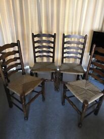5 wooden chairs ideal shabby chic project